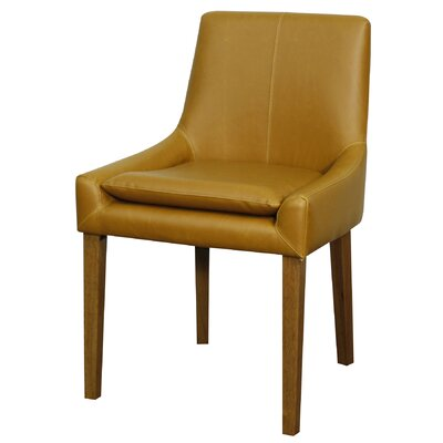 Chase Genuine Leather Upholstered Dining Chair Color: Vintage Caramel