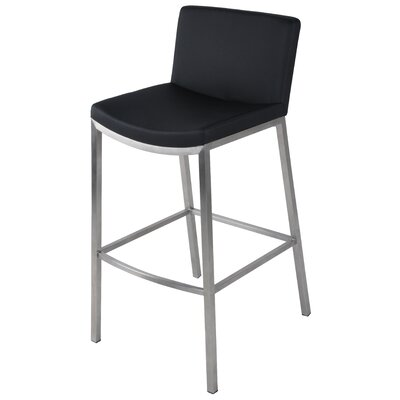 Eddard 26 Bar Stool Upholstery: Black