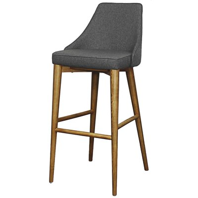 Erin 29.5 Bar Stool Upholstery: Night Shade
