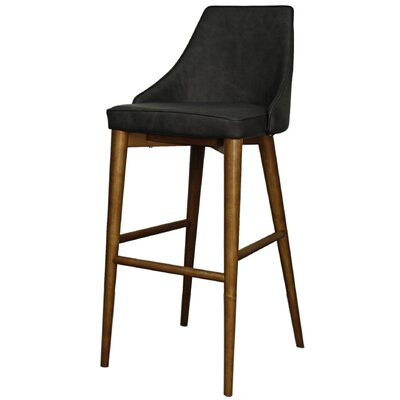 Erin 29.5 Bar Stool Upholstery: Antique Gray