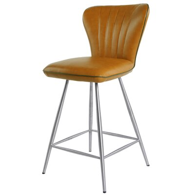 Briley 26 Swivel Bar Stool with Cushion Upholstery: Cigar