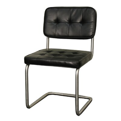 Bauer Side Chair Color: Black