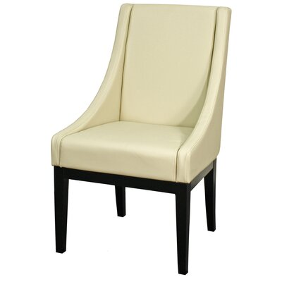 Houston Bonded Leather Side Chair Color: Cream
