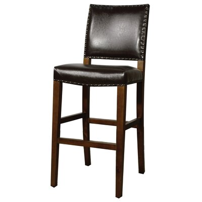 Rowan 31 Bar Stool Upholstery: Brown
