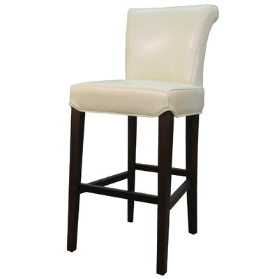 Bentley 30 Bar Stool with Cushion Upholstery: Beige
