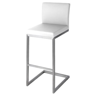 Bran 26 Bar Stool Upholstery: White