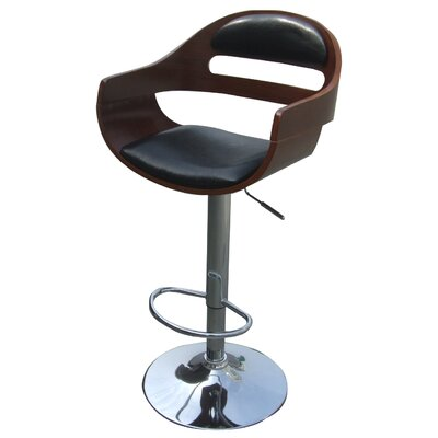 Lex Adjustable Height Bar Stool with Cushion