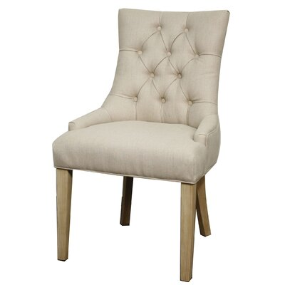 Nicole Side Chair Upholstery: Polyester Blend - Sand
