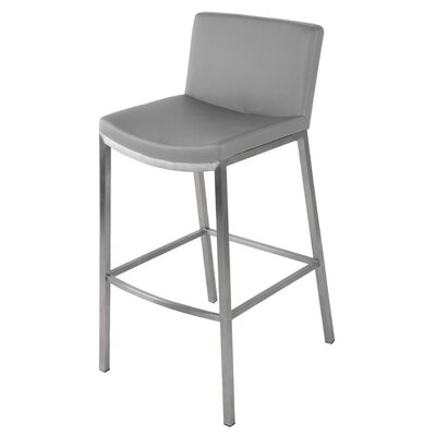 Eddard 26 Bar Stool Upholstery: Gray