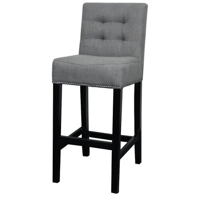 Scott 29.5 Bar Stool Upholstery: Gun Metal