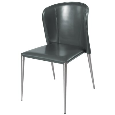 Devin Genuine Leather Upholstered Dining Chair Color: Anthracite