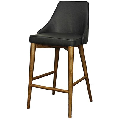 Erin 25.5 Bar Stool Upholstery: Antique Gray