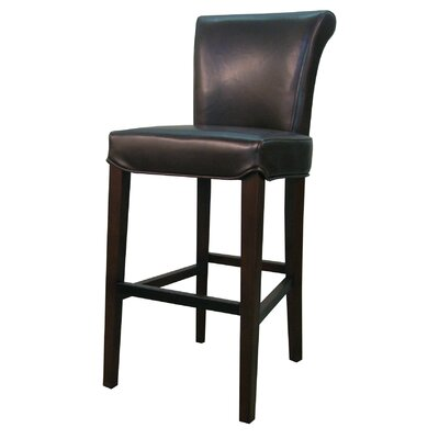 Bentley 26 inch Bar Stool with Cushion Upholstery: Red