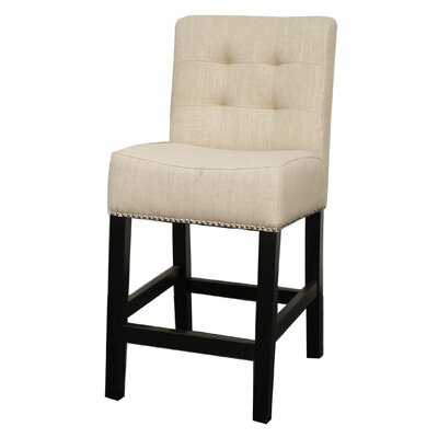 Scott 23.5 Bar Stool Upholstery: Flax