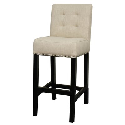 Scott 29.5 Bar Stool Upholstery: Flax
