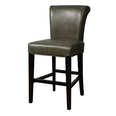 Bentley 26 Bar Stool with Cushion Upholstery: Quarry