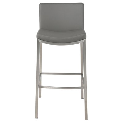 Eddard 30 Bar Stool Upholstery: Gray