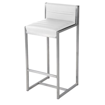 Evert 26 Bar Stool with Cushion Upholstery: White