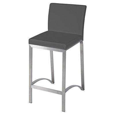 Edward  26 Bar Stool Upholstery: Gray