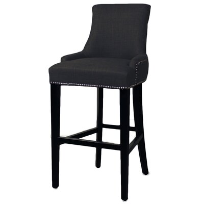 Minisink 30 Bar Stool with Cushion Upholstery: Charcoal
