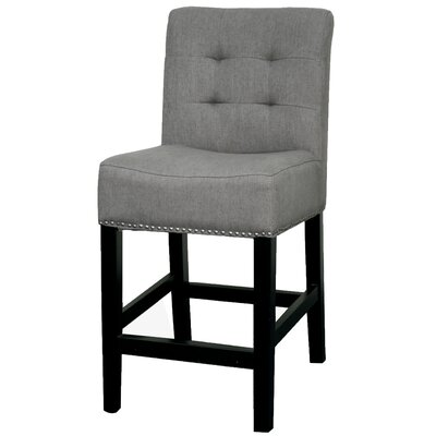 Scott 23.5 Bar Stool Upholstery: Gun Metal