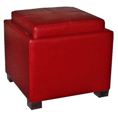 Venzia Storage Ottoman Upholstery: Red