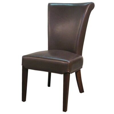 Bentley Side Chair Color: Mocha, Leather Type: Bonded Leather