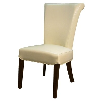 Bentley Side Chair Color: Beige, Leather Type: Bonded Leather