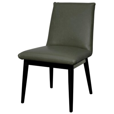 Pietra Bonded Leather Side Chair Color: Vintage Gray