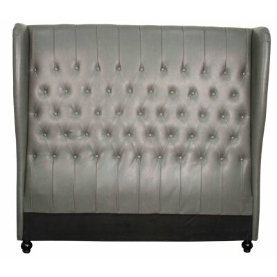 Alice Upholstered Wingback Headboard Size: Queen, Upholstery: Vintage Gray