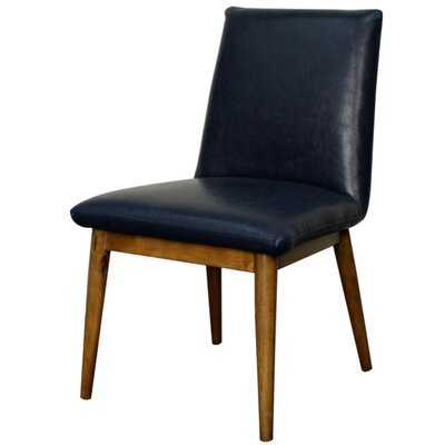 Pietra Genuine Leather Upholstered Dining Chair