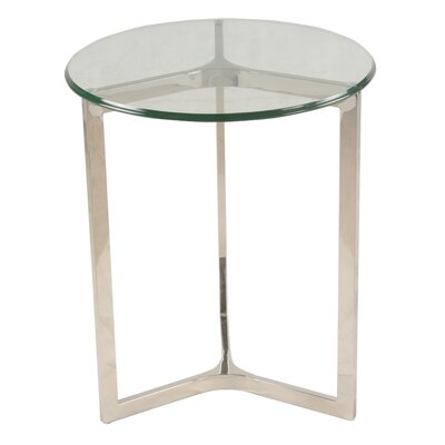 Monza End Table Finish: Stainless Steel