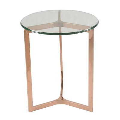 Monza End Table Finish: Rose Gold
