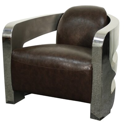 Carson Barrel Chair Upholstery: Distressed Java