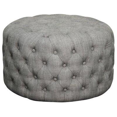 Lulu Round Tufted Ottoman Upholstery: Fabric Shark