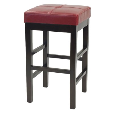 Valencia 27 inch Bar Stool Upholstery: Red