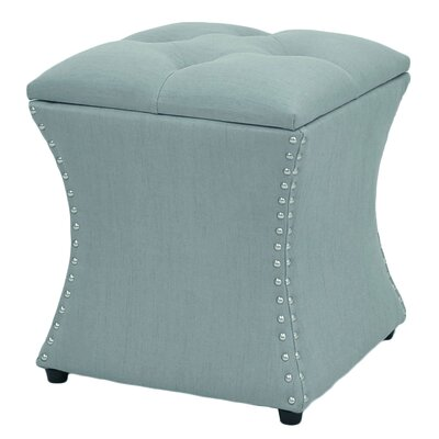Mendes Storage Ottoman Upholstery: Ocean