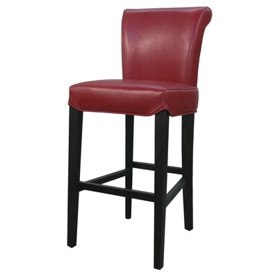 Bentley 30 Bar Stool Upholstery: Red