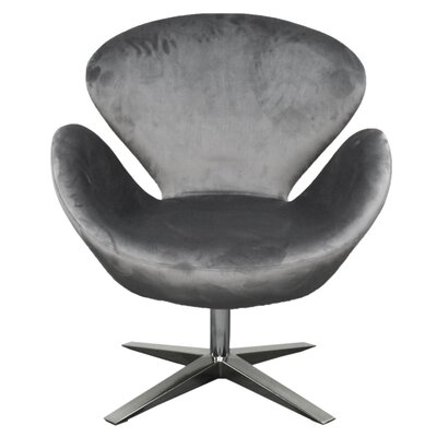 Beckett Swivel Lounge Chair Upholstery: Shadow Gray