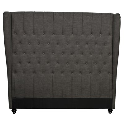 Alice King Upholstered Wingback Headboard Upholstery: Umber
