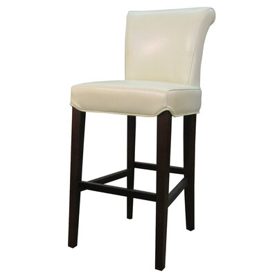 Bentley 26 Bar Stool Upholstery: Beige