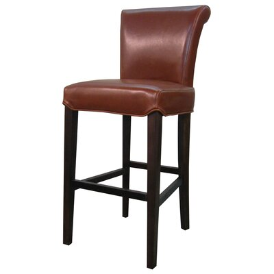 Bentley 26 Bar Stool Upholstery: Cognac