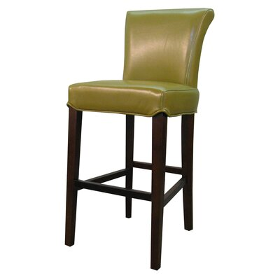 Bentley 26 Bar Stool Upholstery: Wasabi