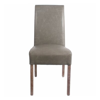 Kimberling Parsons Chair Finish: Drift Wood, Upholstery: Vintage Gray