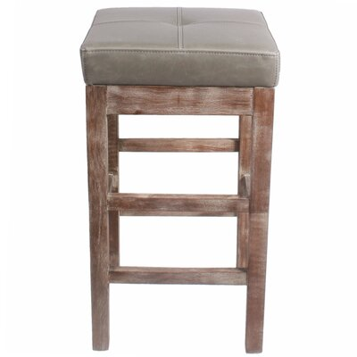 Kimberling 27 Bar Stool Finish: Drift Wood, Upholstery: Vintage Gray