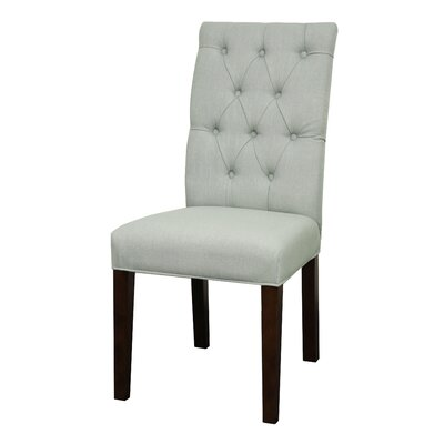 Gwendoline Side Chair Finish: Espresso, Upholstery: Soft Blue