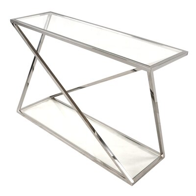 Marcio Console Table Finish: Stainless Steel