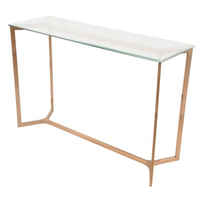 Marcio Console Table Finish: Rose Gold