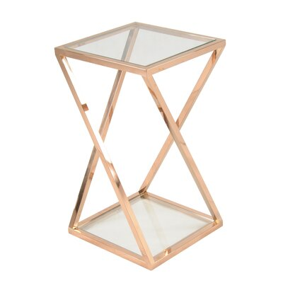 Marcio End Table Color: Rose Gold