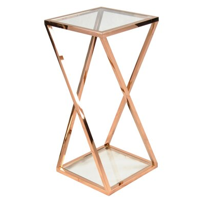 Marcio End Table Finish: Rose Gold